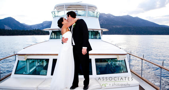 couple kissing on bleu wave cruise
